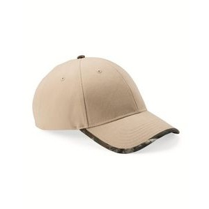 Kati Solid Cap with Camouflage Contrast Bill