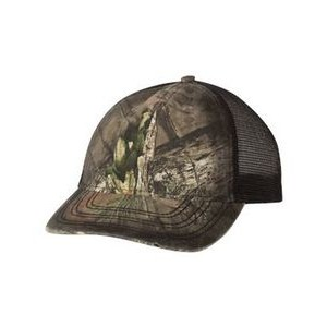 Outdoor Cap® Oil Stained Camo Trucker Cap