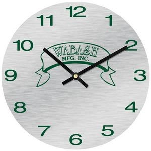 "11 1/2"" Round Aluma-Tech Wall Clock with Full Color Imprint"