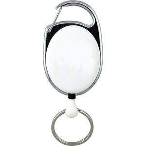 "24"" Carabiner Style Retractable Badge Reel Non-Printed"