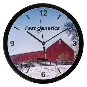 "14"" Grande Round Wall Clock with Full Color Imprint"