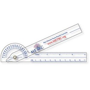 ".040 Clear Plastic Goniometer (1.5"" x 11.4"") Screen-printed"