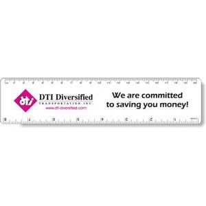".040 White Matte Styrene Plastic 8"" Rulers / with round corners (1.875"" x 8"
