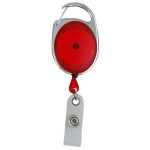 "30"" Carabiner Style Retractable Badge Reel (1 3/8""x2"") Non-Printed"