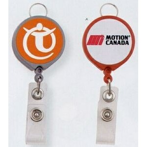 Round Retractable Badge Holder Reel (Dome Decoration)
