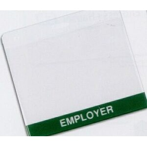 "Standard Vinyl Badge Holder (4 1/8""x3"" Insert)"