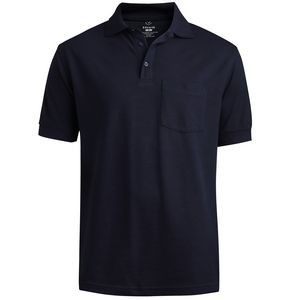 Edwards Unisex Short Sleeve Soft Touch All Cotton Pique Polo Shirt w/ Pocket