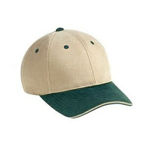 OTTO Superior Brushed Cotton Twill Sandwich Visor 6 Panel Low Profile Baseball Cap