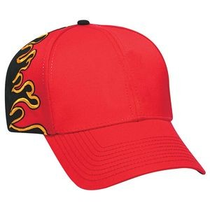 OTTO Flame Pattern Cotton Blend Twill 6 Panel Low Profile Baseball Cap