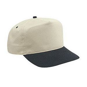 OTTO Brushed Cotton Blend Twill 5 Panel High Crown Baseball Cap