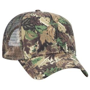 OTTO Camouflage Cotton Blend Twill 6 Panel Pro Style Mesh Back Trucker Hat