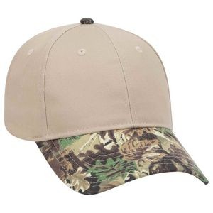 OTTO Camouflage Visor Cotton Blend Twill 6 Panel Low Profile Baseball Cap