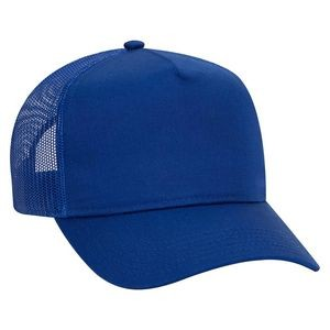 OTTO Cotton Blend Twill 5 Panel Pro Style Mesh Back Trucker Hat