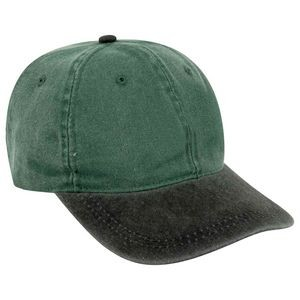 OTTO Garment Washed Pigment Dyed Cotton Twill Youth 6 Panel Low Profile Dad Hat