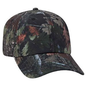 OTTO 6 Panel Camouflage Polyester Canvas Low Profile Baseball Cap