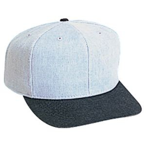 OTTO Brushed Bull Denim 6 Panel Pro Style Baseball Cap
