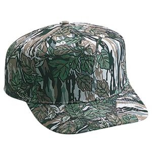OTTO Camouflage Cotton Blend Twill 6 Panel Pro Style Baseball Cap