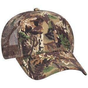 OTTO Camouflage Cotton Blend Twill 6 Panel Low Profile Mesh Back Trucker Hat
