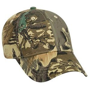 OTTO Camouflage Cotton Blend Twill Youth 6 Panel Low Profile Baseball Cap