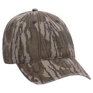 Mossy Oak Camouflage Garment Washed Superior Cotton Twill Six Panel Low Profile Baseball Cap