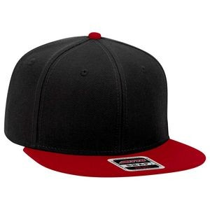 "OTTO Wool Blend Twill Square Flat Visor ""OTTO SNAP"" 6 Panel Pro Style Snapback Hat"
