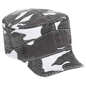 OTTO Camouflage Garment Washed Superior Cotton Twill Flexible Soft Visor Military Hat