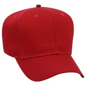 OTTO Promo Cotton Blend Twill 6 Panel Pro Style Baseball Cap