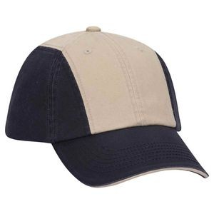 OTTO Cotton Twill Sandwich Visor 12 Panel Low Profile Baseball Cap