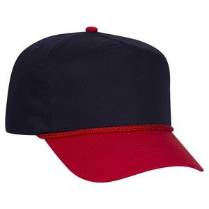 OTTO Cotton Blend Twill 5 Panel Low Crown Baseball Cap
