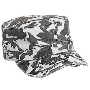 OTTO 6 Panel Camo Print Garment Washed Superior Cotton Twill Military Hat