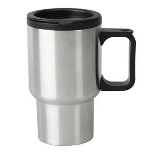 16 Oz. Stainless Steel Travel Mug w/ Plastic Liner