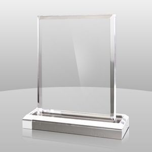 "Vertical Mount Clear Rectangular Award II (5""x4""x2"")"
