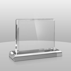 "Horizontal Mount Clear Rectangular Award II (4""x5""x2"")"