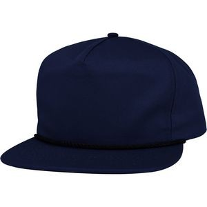 5 Panel Flat Bill Cap Made in USA