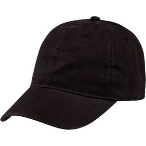 USA 6 Panel Unstructured, Low Crown, Cotton Twill, Adjustable Slide Closure, Curved Bill