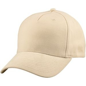 Structured 5 Panel Brushed Twill Cap