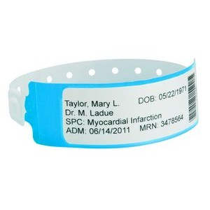 Poly Label Shield Wristband