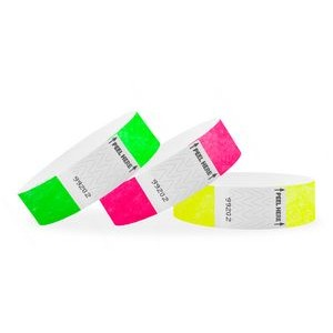 "1"" Tyvek® In-Stock Tab-Free Wristbands"