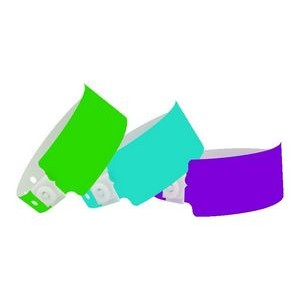 Plastic In-Stock Solid Color Wide Wristbands