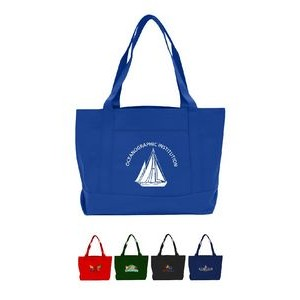 Open Tote Bag with Front Pocket