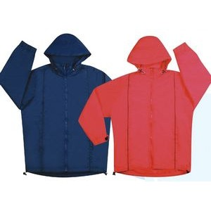 Nylon Jacket w/ Nylon Lining and Concealed Hood