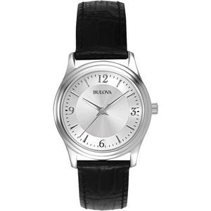 Bulova Corporate Collection Women's Leather Strap Round Dial Watch