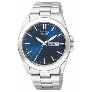 Citizen Men's Stainless Steel Watch w/ Round Blue Dial