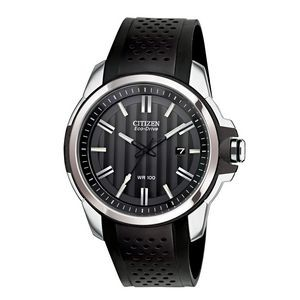 Citizen Men's AR Drive Black Leather Strap Eco-Drive Watch