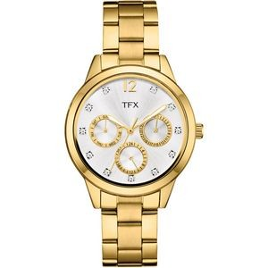 TFX Women's Chronograph Gold-Tone Sport Watch