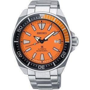 Mens Automatic Silver Case Orange Dial