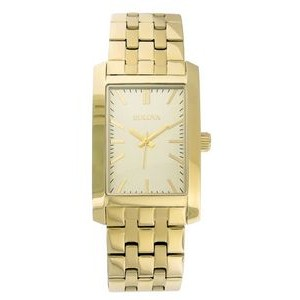Bulova Corporate Collection Men's Gold-Tone Stainless Steel Bracelet Watch
