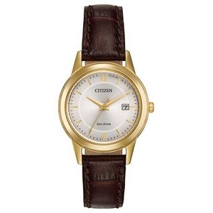 Citizen Ladies' Eco-Drive Watch With Brown Leather Strap