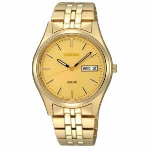 Seiko Men's Gold-Tone Solar Watch w/ Champagne Dial