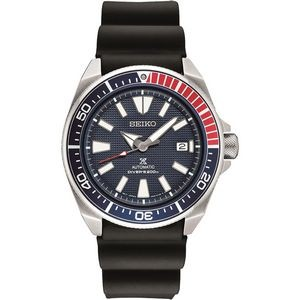 Mens Automatic Diver Silver/ Red/ Blue Case Blue Dial